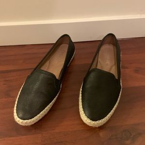 Black leather espadrille Aerosoles
